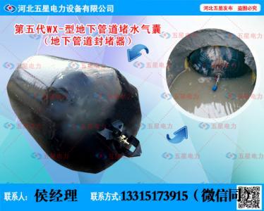 城市地下管网堵水气囊(城市地下管网管道封堵器)